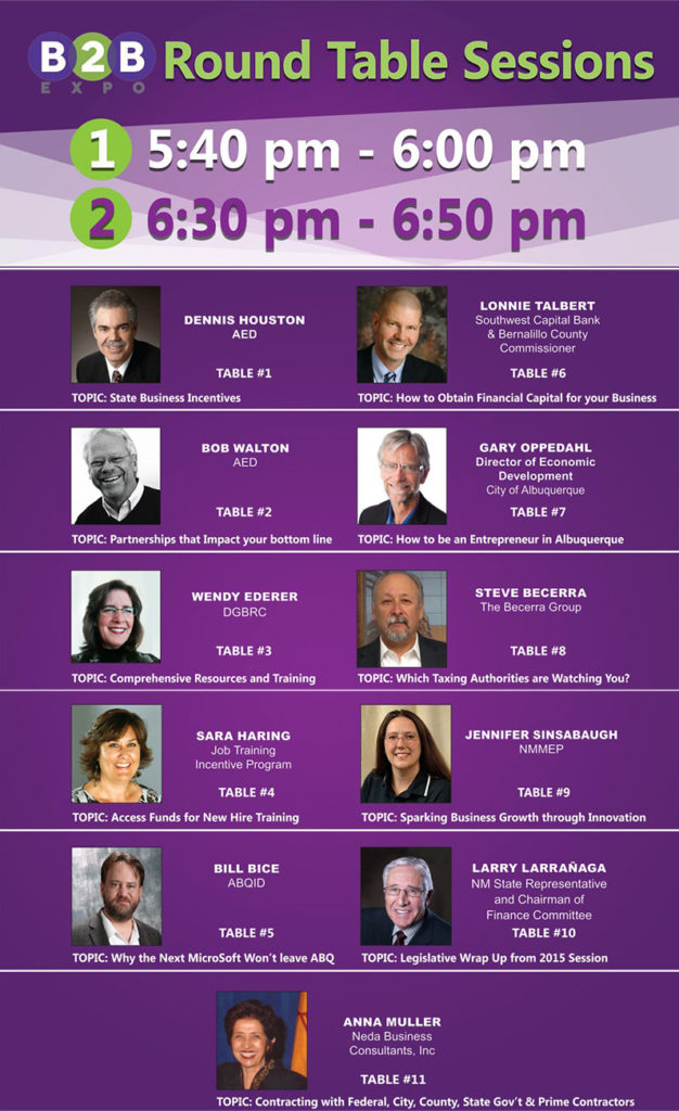2015 B2B Expo Roundtable Sessions